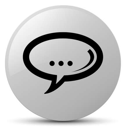 Chat icon isolated on white round button abstract illustration