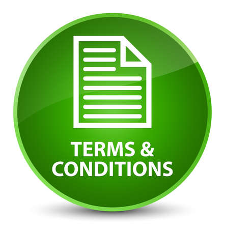 Terms and conditions (page icon) isolated on elegant green round button abstract illustration
