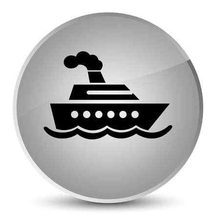Cruise ship icon isolated on elegant white round button abstract illustration