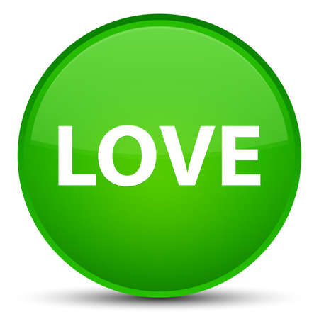Love isolated on special green round button abstract illustration