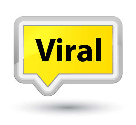 Viral isolated on prime yellow banner button abstract illustration