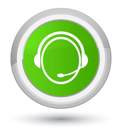 Customer care service icon isolated on prime soft green round button abstract illustration