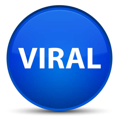 Viral isolated on special blue round button abstract illustration