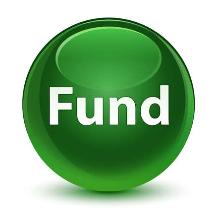 Fund isolated on glassy soft green round button abstract illustration