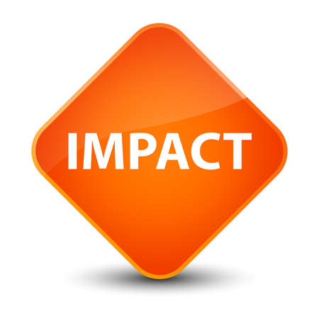 knocking: Impact isolated on elegant orange diamond button abstract illustration