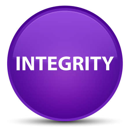 Integrity isolated on special purple round button abstract illustration
