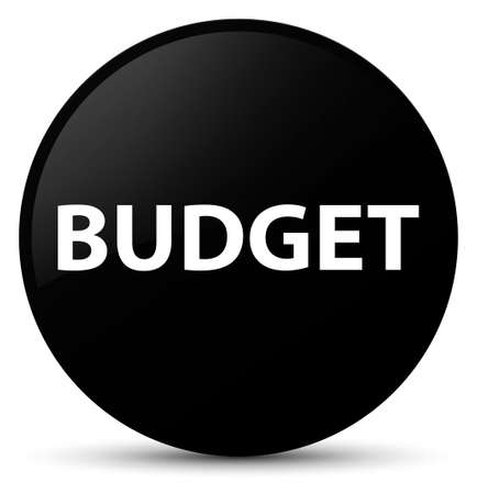 Budget isolated on black round button abstract illustration