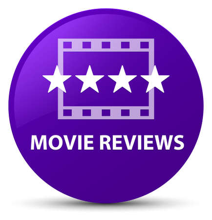 Movie reviews isolated on purple round button abstract illustration