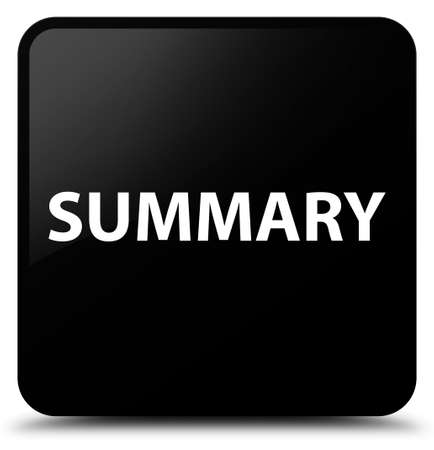 Summary isolated on black square button abstract illustration