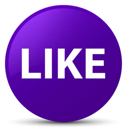 Like isolated on purple round button abstract illustration