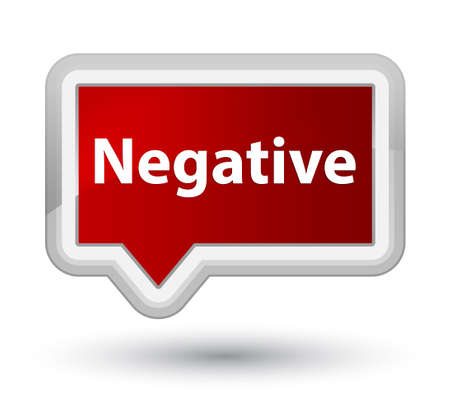 Negative isolated on prime red banner button abstract illustration