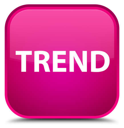 Trend isolated on special pink square button abstract illustration