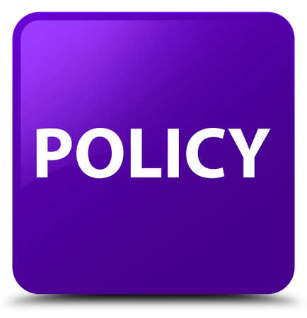 Policy isolated on purple square button abstract illustration