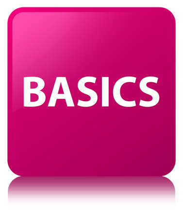 Basics isolated on pink square button reflected abstract illustration