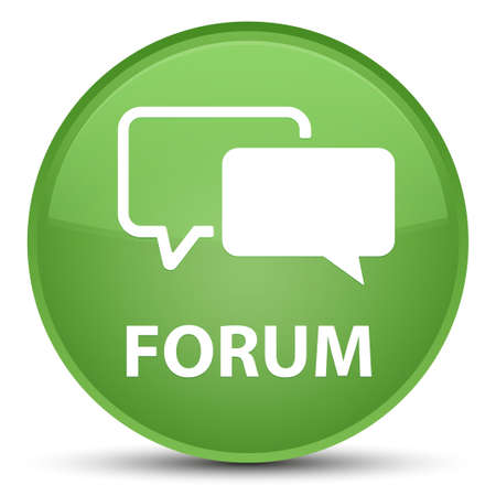 Forum isolated on special soft green round button abstract illustration