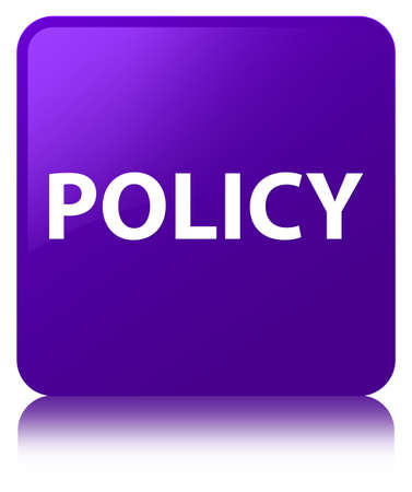 Policy isolated on purple square button reflected abstract illustration Stok Fotoğraf