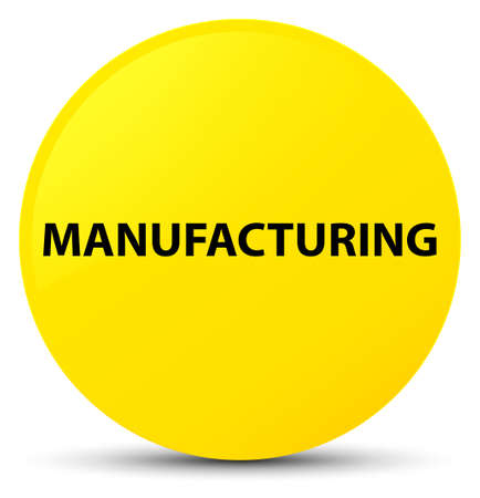 Manufacturing isolated on yellow round button abstract illustration Stock Photo