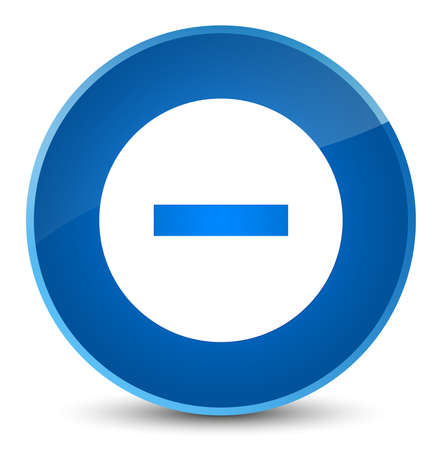 Cancel icon isolated on elegant blue round button abstract illustration Stock Photo