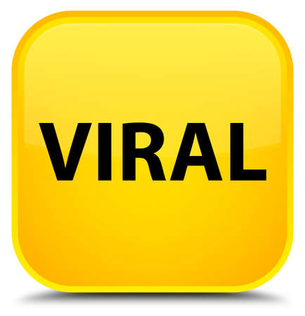 Viral isolated on special yellow square button abstract illustration