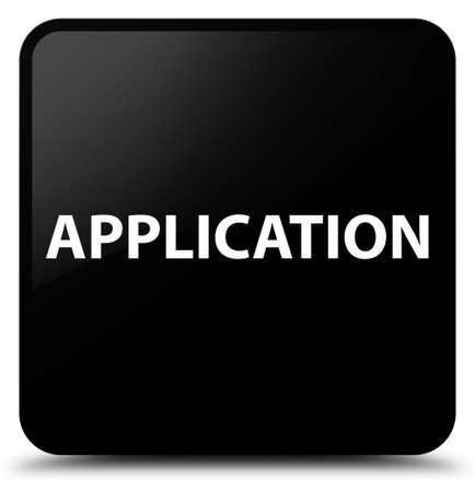Application isolated on black square button abstract illustration