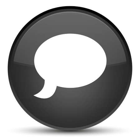Chat icon isolated on special black round button abstract illustration 版權商用圖片