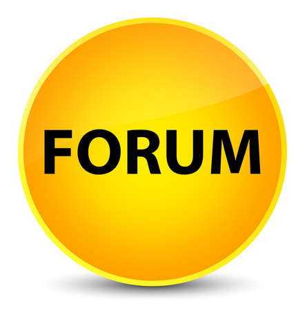 Forum isolated on elegant yellow round button abstract illustration Stock Photo
