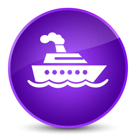 Cruise ship icon isolated on elegant purple round button abstract illustration