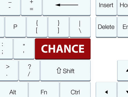 Chance isolated on brown keyboard button abstract illustration