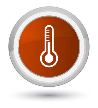 Thermometer icon isolated on prime brown round button abstract illustration