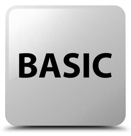 Basic isolated on white square button abstract illustration