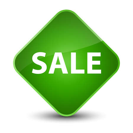 Sale isolated on elegant green diamond button abstract illustration
