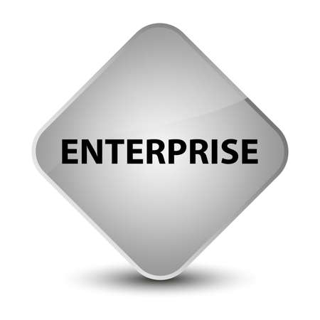 Enterprise isolated on elegant white diamond button abstract illustration Фото со стока