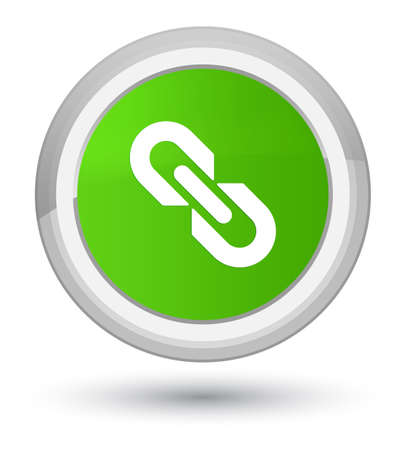 prime: Link icon isolated on prime soft green round button abstract illustration Stock Photo