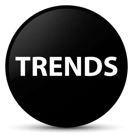 Trends isolated on black round button abstract illustration