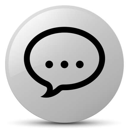Talk icon isolated on white round button abstract illustration