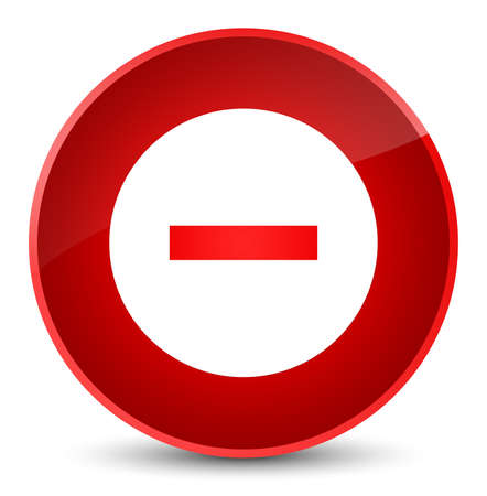 Cancel icon isolated on elegant red round button abstract illustration Stock Photo