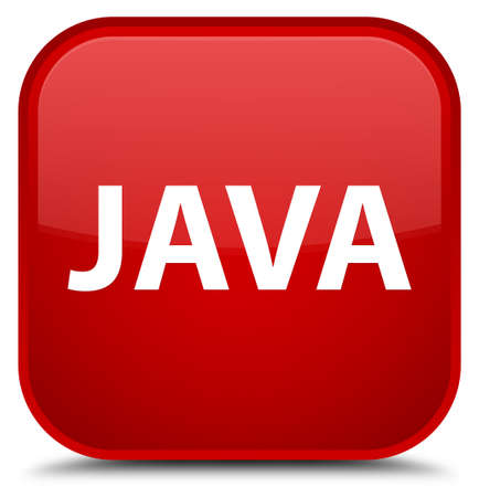 Java isolated on special red square button abstract illustration Stock Photo