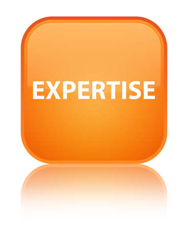 Expertise isolated on special orange square button reflected abstract illustration Stock Photo