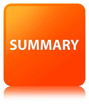 Summary isolated on orange square button reflected abstract illustration Stock fotó