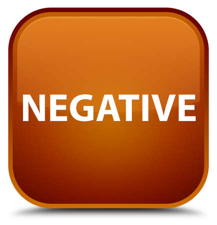 Negative isolated on special brown square button abstract illustration Stock Photo