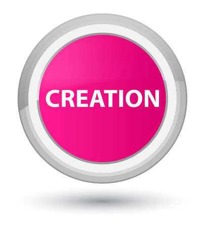 Creation isolated on prime pink round button abstract illustration