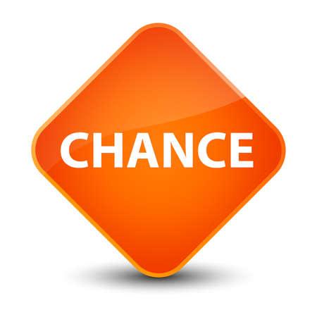 Chance isolated on elegant orange diamond button abstract illustration Banco de Imagens