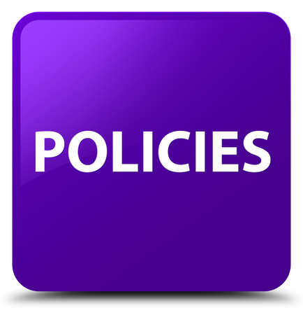 Policies isolated on purple square button abstract illustration