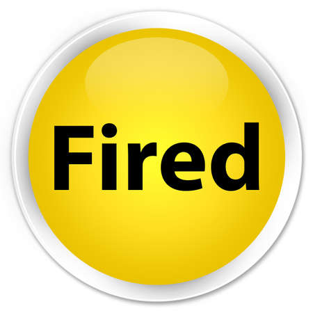 Fired isolated on premium yellow round button abstract illustration