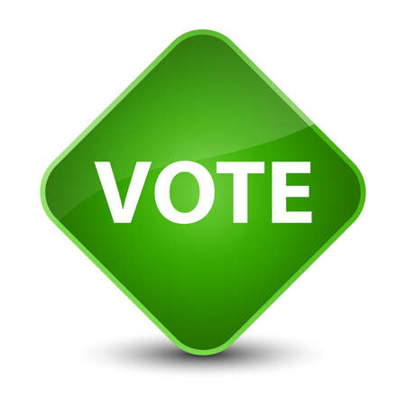 Vote isolated on elegant green diamond button abstract illustration Stock Photo