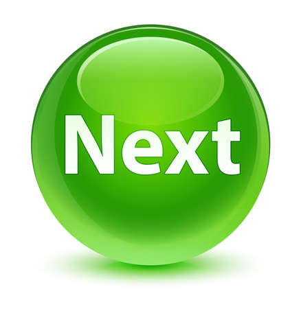 Next isolated on glassy green round button abstract illustration Stock Photo