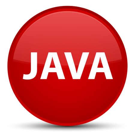 特別な赤い丸いボタンの抽象的なイラストに分離された Java