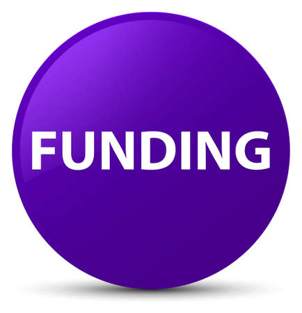Funding isolated on purple round button abstract illustration
