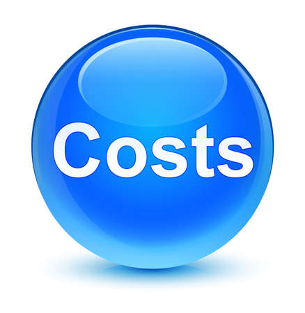 Costs isolated on glassy cyan blue round button abstract illustration Stock Photo