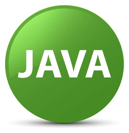 Java isolated on soft green round button abstract illustration
